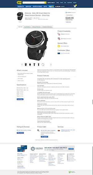 Best Buy reveals everything there is to know about the gorgeous Moto 360