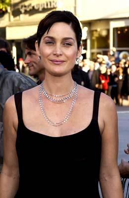 Carrie Anne Moss of The Crew at the Hollywood premiere of Warner Brothers' The Matrix: Reloaded