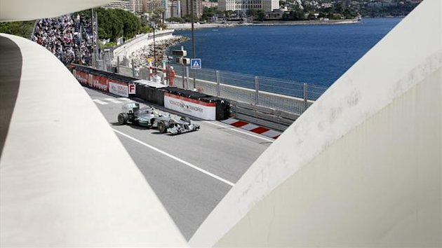 Mercedes AMG Petronas Formula One driver Nico Rosberg of Germany drives during the first practice session of the Monaco F1 Grand Prix (Reuters)