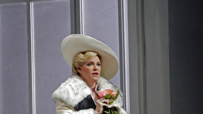 "In this undated photo provided by the Santa Fe Opera, Erin Wall performs the title role in the Santa Fe Opera production of Richard Strauss' ""Arabella."" (AP Photo/Santa Fe Opera, Ken Howard)"