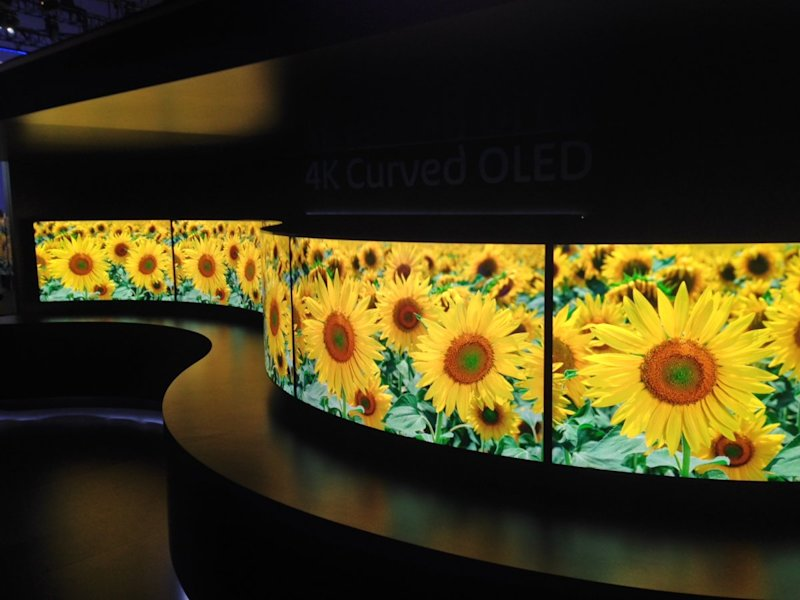 Panasonic curved TV