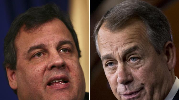 NJ Gov. Christie blasts Boehner, Republicans