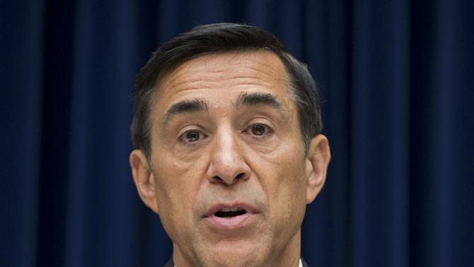 """House Oversight Committee Chairman Darrell Issa, R-Calif., hears from Inspector General Michael Horowitz, the Justice Department's internal watchdog, the day after he issued a report faulting the department for disregard of public safety in """"Operation Fast and Furious,"""" the Bureau of Alcohol, Tobacco, Firearms and Explosives' program that allowed hundreds of guns to reach Mexican drug gangs, on Capitol Hill in Washington, Thursday, Sept. 20, 2012. Issa and House Republicans have pursued Attorney General Eric Holder in their oversight investigation but the IG's findings absolve Holder of wrongdoing. (AP Photo/J. Scott Applewhite)"""