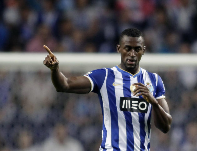 Porto's Jackson celebrates his goal against Gil Vicente during their Portuguese Premier League match in Porto