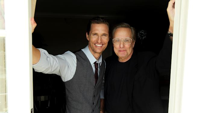 """This Jylu 18, 2012 photo shows actor Matthew McConaughey, left, and director William Friedkin, from the upcoming film """"Killer Joe"""" in Beverly Hills, Calif. McConaughey plays the title role in the NC-17 rated film, which also stars Emile Hirsch, Gina Gershon and Thomas Haden Church. """"Killer Joe"""" opens in theaters in New York on Friday, and other major cities next week. (Photo by Matt Sayles/Invision/AP)"""