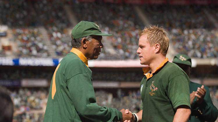 Invictus Production Photos 2009 Warner Bros. Morgan Freeman Matt Damon