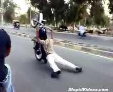 Crazy Motorcycle Stunts In Pakistan