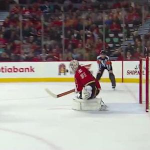 Karri Ramo stuffs Skinner on the penalty shot