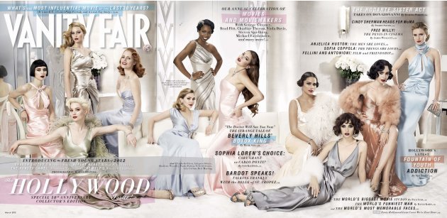 Publicity image of the March 2012 issue of Vanity Fair magazine
