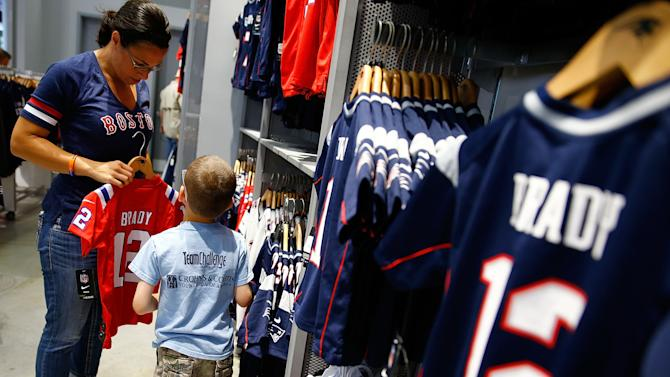 New England Patriots Fans Trade in Their Aaron Hernandez Jerseys During a Free Exchange