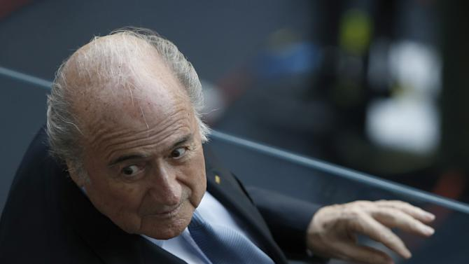 FIFA president Sepp Blatter attends a match in Recife during the 2014 FIFA World Cup on June 29, 2014