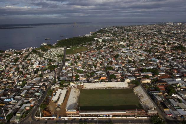 An aerial view of the Colina Training Center where teams will train in Manaus