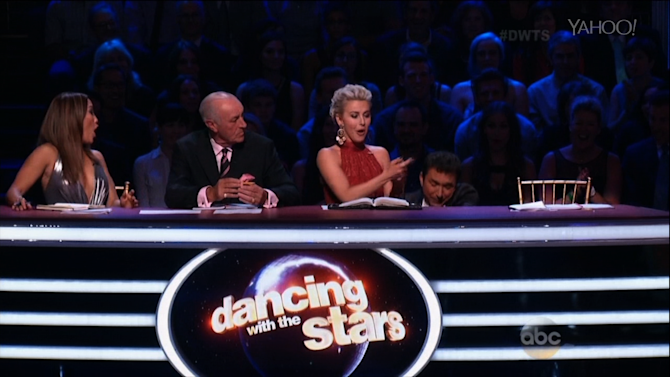 'DWTS' Judge Tumbles out of Chair During Critique
