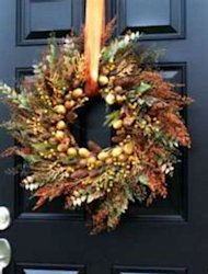 Decorate the front door for fall