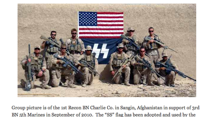 Marine Corps Insists Marines Are Too Dumb to Know This Is a Nazi Flag