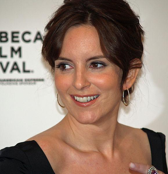 Tina Fey at the premiere of Baby Mama in New York City at the 2008 Tribeca Film Festival. Photographer's blog post about this photo and the scar on Tina Fey's face.