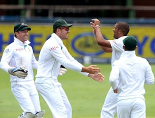 South Africa v India - Test Match Series - Day Two