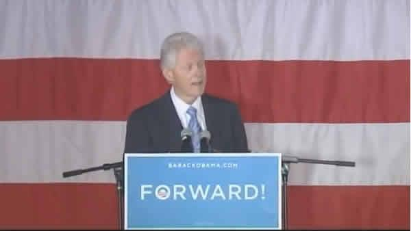Bill Clinton at Pullen Park