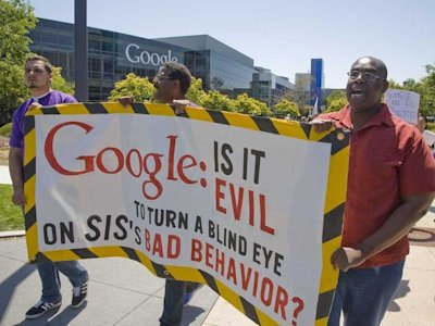 Google security worker protest
