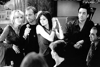Cate Blanchett , Billy Bob Thornton , Angelina Jolie and John Cusack in Pushing Tin