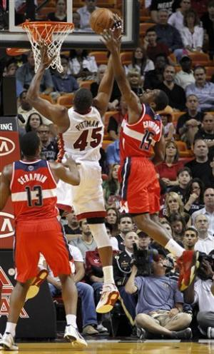 Wade hurt as Heat lose to Wizards 86-84