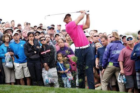 Golf-Woods struggles as Palmer sets pace in Phoenix