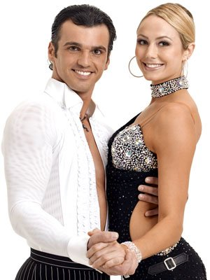 Stacy Keibler and partner Tony Dovolani ABC's Dancing With the Stars