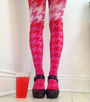 Me in my Pretty Polly houndstooth tights and matching italian soda