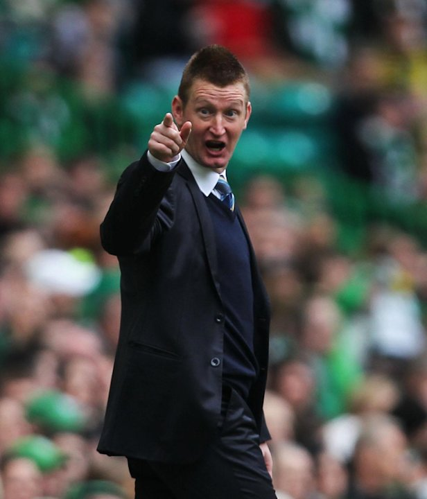 St Johnstone boss Steve Lomas was sent to the stands in the defeat to Hibs