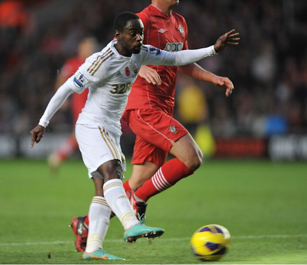Nathan Dyer scored Swansea's equaliser against Southampton