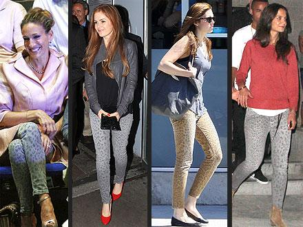 Celebrities are obsessed with leopard print jeans this season