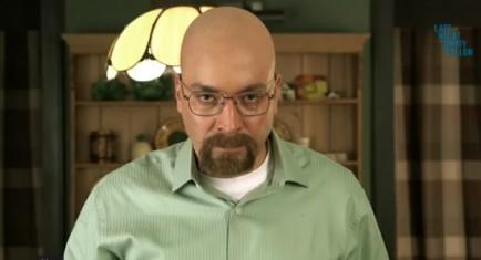 "Jimmy Fallon's ""Breaking Bad"" parody features cameos with Bryan Cranston, Aaron Paul, and Bob Odenkirk. Image credit: YouTube 13 Jimmy Fallon Video Clips To Make Your Day ""History of R"