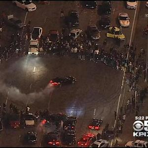 CHP Questions 200 People, Seizes Weapons During Massive Oakland Sideshow