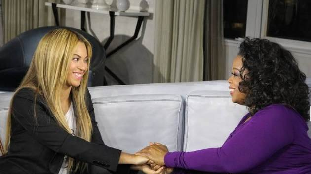 "Beyonce seen on ""Oprah's Next Chapter"" on OWN, February 2013  -- OWN: The Oprah Winfrey Network"