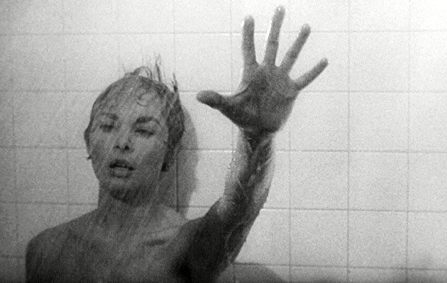 shower scene from psycho The screeching violin in alfred hitchcock's bloody psycho shower scene has been voted the scariest movie theme tune.