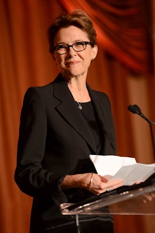 Annette Bening celebrates female reporters at the Courage in Journalism Awards inn Beverly Hills on October 29, 2012.