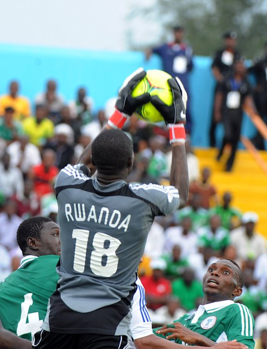 Rwandan Keeper Laude Ndoli Holds AFP/Getty Images