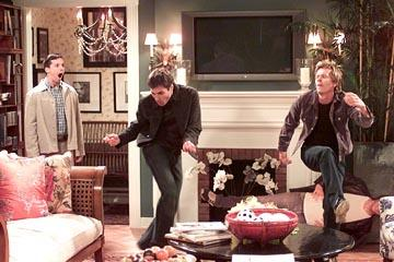 Sean Hayes, Eric McCormack and Kevin Bacon on NBC's Will and Grace