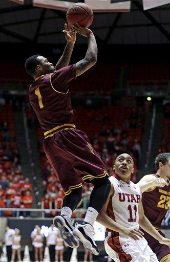 Washburn leads Utah over  Arizona State 60-55