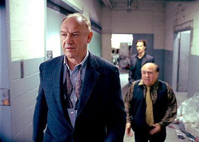 Gene Hackman , Danny DeVito and Sam Rockwell in Warner Brothers' Heist