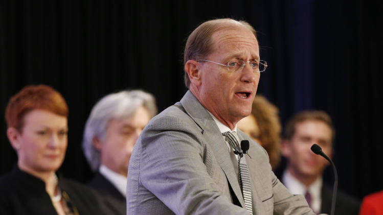 Delta Airlines CEO Richard Anderson speaks during a news conference in New York, Tuesday, Dec. 11, 2012. Delta Air Lines said it will buy almost half of Virgin Atlantic for $360 million as it tries to catch up to rivals in the lucrative New York-to-London travel market. (AP Photo/Seth Wenig)