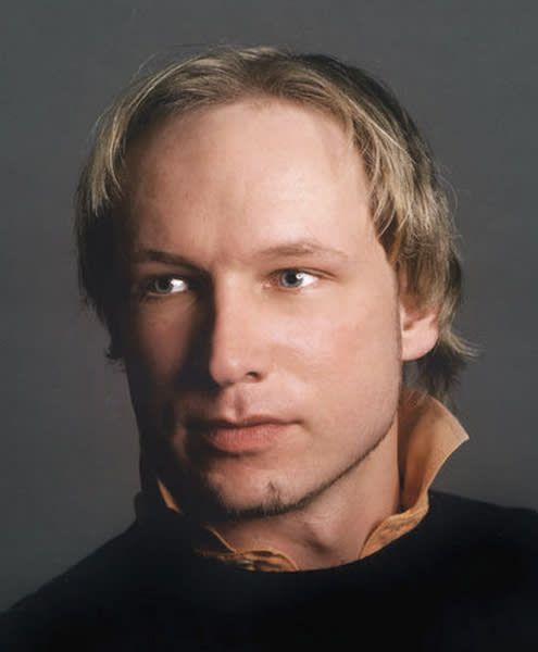 FILE - In this undated file image obtained from the Twitter page of Anders Behring Breivik, 32, who was arrested in connection with the twin attacks on a youth camp and a government building in Oslo, Norway. Anders Behring Breivik the Norwegian right-wing extremist who admitted to bomb and gun attacks that killed 77 people last year will receive his judgment Friday Aug. 24, 2012 in a court room custom built for his trial. (AP Photo/Twitter, Anders Behring Breivik, File)