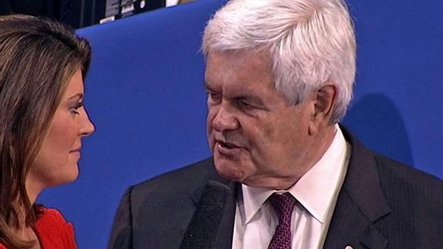 "Gingrich ""enthusiastically"" for Romney-Ryan ticket"