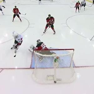 Milan Michalek goes top-shelf on Brodeur