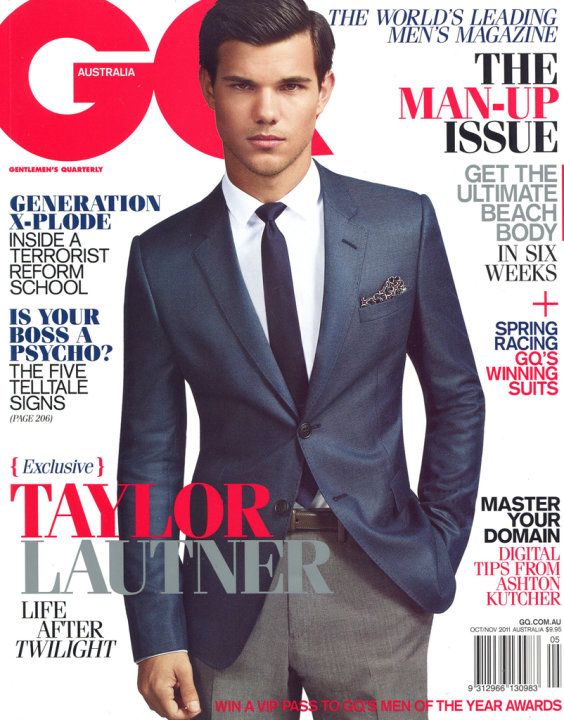 Taylor Lautner on the cover …