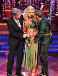 Tom Bergeron ask Katherine Jenkins (with partner Mark Ballas) about what happened on the dance floor, 'Dancing with the Stars,' May 14, 2012 -- ABC