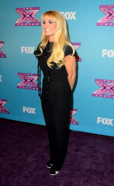 Britney Spears arrives at Fox's 'The X Factor' Season Finale Night 1 at CBS Televison City in Los Angeles on December 19, 2012 -- Getty Images