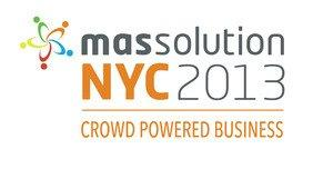 "Massolution Announces Inaugural Enterprise Crowdsourcing & Crowdfunding Conference: ""Massolution NYC 2013: Crowd Powered Business"""