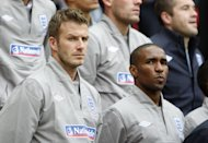 Jermain Defoe, right, feels David Beckham, left, would be very welcome at Tottenham