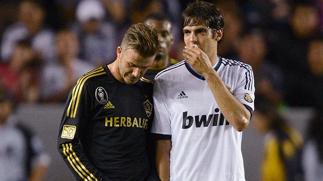 Kaka and David Beckham